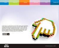 Web site design. Business web site design template, vector illustration Stock Photos