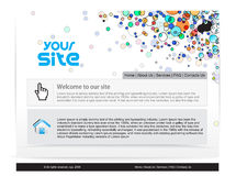 Web site design Royalty Free Stock Image