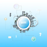 Web site design. City Royalty Free Stock Photography