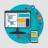 Web site design stock illustration