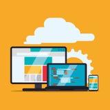 Web site design royalty free illustration
