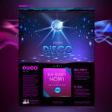 Web site  design. Disco background Stock Photos