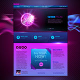 Web site  design. Disco background Royalty Free Stock Images