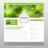 Web site design. Ecology background Royalty Free Stock Photos