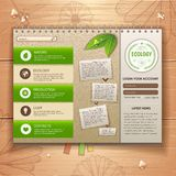 Web site design. Ecology background Royalty Free Stock Image