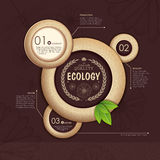 Web site design. Ecology background Royalty Free Stock Images