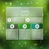 Web site  design. Ecology background Stock Image