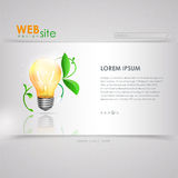 Web site  design. ecology background Royalty Free Stock Photography