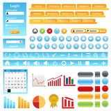 Web Site Design Elements Royalty Free Stock Image