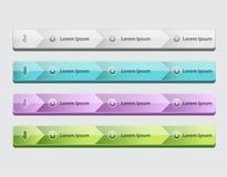 Web site design menu navigation elements with icons set Navigation menu bars stock illustration