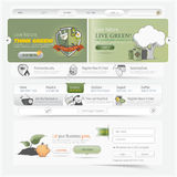 Web site design navigation template elements with icons set Royalty Free Stock Photo