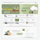 Web site design navigation template elements with icons set. Website design navigation template elements with icons set Royalty Free Stock Photo