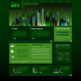 Web site design. night city Stock Photography
