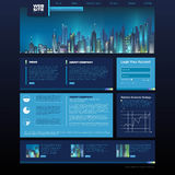 Web site design. night city Royalty Free Stock Photo
