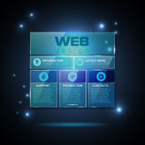 Web site  design. Technology background Royalty Free Stock Photo