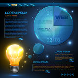 Web site  design. Technology background Stock Images