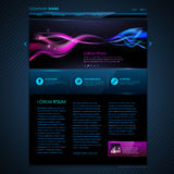 Web site  design. Technology background Stock Photo