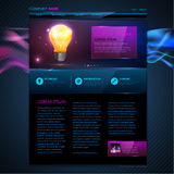 Web site  design. Technology background Royalty Free Stock Photography