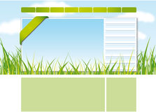 Web site design template 1 Royalty Free Stock Image