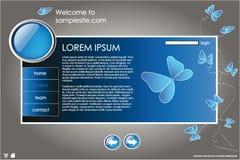 Web site design template 10 Stock Image