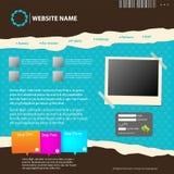 Web site design template. Royalty Free Stock Photos