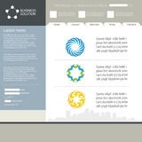 Web site design template. Web site template idea for your design Royalty Free Stock Images