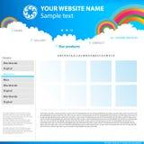 Web site design template. Stock Photo