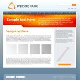 Web site design template. Web site template idea for your design Stock Photography