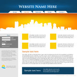 Web site design template. stock illustration