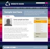 Web site design template. Stock Image