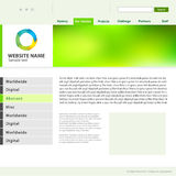 Web site design template. Royalty Free Stock Image