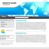 Web site design template. Web site template idea for your design Stock Images
