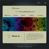 Web site design template Stock Photo