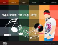 Web site design template Stock Image