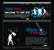 Web site design template. Illustration Royalty Free Stock Photos