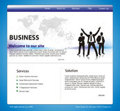 Web site design template Stock Images
