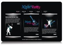Web site design template. Illustration Stock Images