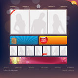 Web Site Design Template. Vector Illustration Royalty Free Stock Photo