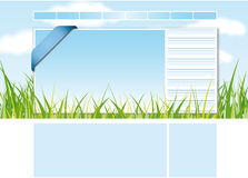 Web site design template 2 Royalty Free Stock Photos