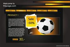 Web site design template Stock Image