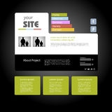 Web site design template Royalty Free Stock Photography