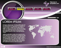 Web site design template 35 Royalty Free Stock Photography