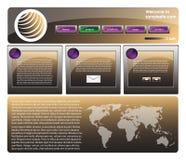 Web site design template 36 Stock Image