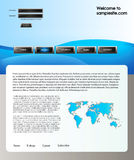 Web site design template 59 Royalty Free Stock Photography