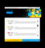 Web site design template. Web site design art template Royalty Free Stock Images