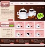 Web site design template, coffee house theme Royalty Free Stock Photos