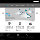 Web site design template Stock Photography
