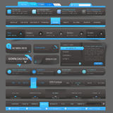 Web site design template navigation elements. Collection of colorful flat kit UI navigation kit elements with icons for personal portfolio website and mobile Stock Photo