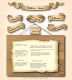 Web site design template . Vector Stock Photos