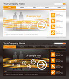Web site design template, vector Stock Photos